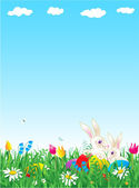 Easter and spring background — Stock Vector