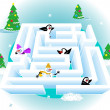 3d ice maze — Stock Vector