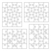Jigsaw puzzle blank templates — Stock Vector