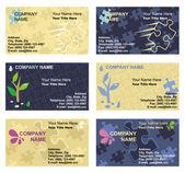 Plantillas de tarjetas de visita — Vector de stock