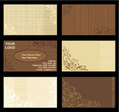 Business cards templates, tan and brown — Stock Vector