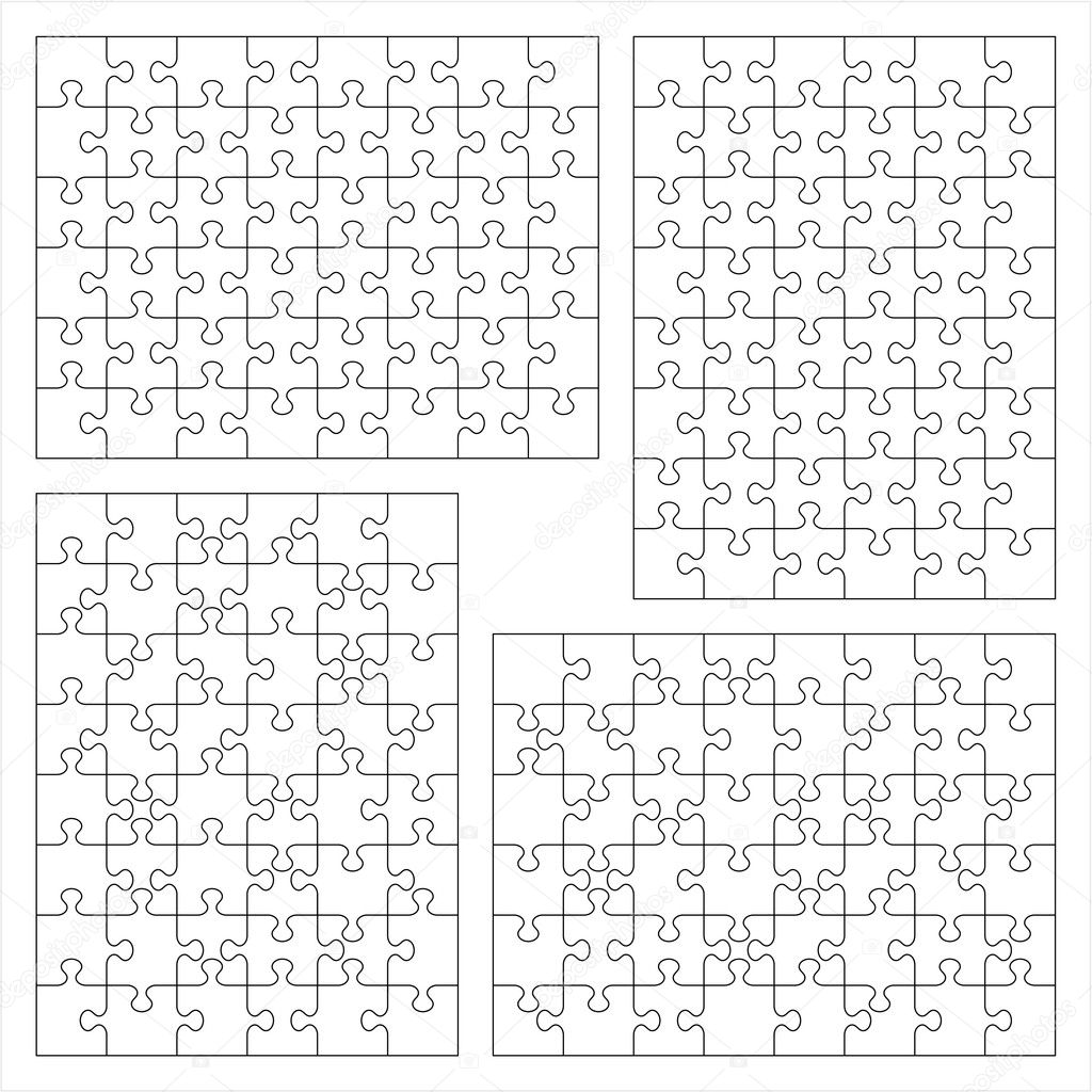 4 Piece Jigsaw Puzzle Template Jigsaw Puzzle Template Jigsaw
