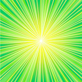 Green sunbeam — Stock Vector