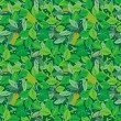 Stockvector : Green foliage seamless repeat pattern