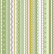 Stripes and laces seamless pattern - Stock Vector