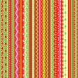 Stockvector : Stripes and laces seamless pattern