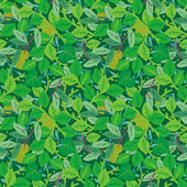 Green foliage seamless repeat pattern — Stockvector