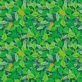 Groene gebladerte naadloze terugkeerpatroon — Stockvector