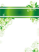 Green floral banner or letterhead — Stock Vector
