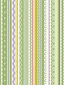 Modèle sans couture stripes et lacets — Vecteur