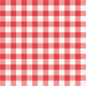 Red gingham seamless fabric — Stock Vector