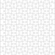 Jigsaw puzzle blank template - Stock Vector