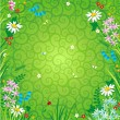 Stock Vector: Spring or summer floral background