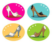 High-heeled elegant shoes — Stock Vector