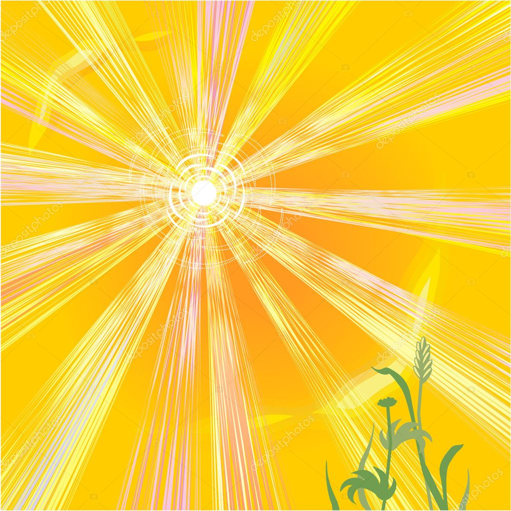 Hot sun of summer abstract background — Stok Vektör #1984166