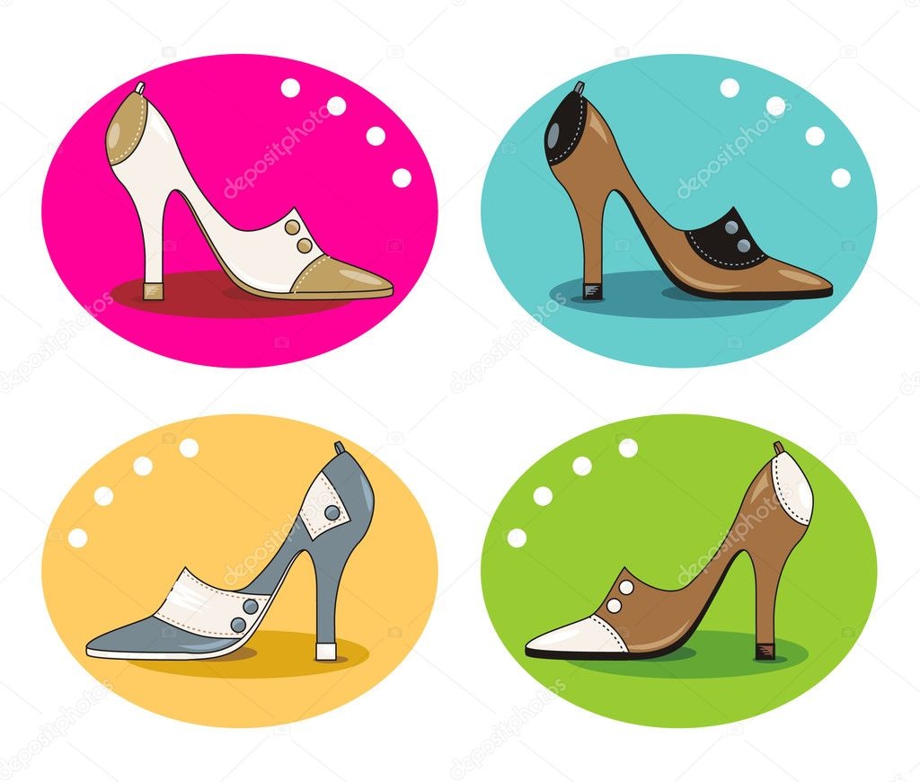 Elegant model ladies' shoes with high heels — Stock Vector #1984242