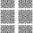 Mazes made with help of maze pattern — Stock Vector