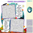 Stock Vector: Halloween word search puzzle
