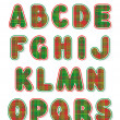 Christmas alphabet set, letters A - S — ストックベクタ