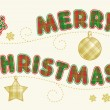 Holiday greeting - Merry Christmas! - Stok Vektr
