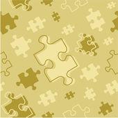 Naadloze puzzel patroon — Stockvector