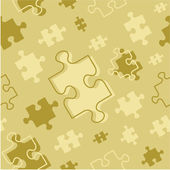 Seamless puzzle pattern — Stock Vector