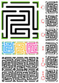 Seamless (repeatable) maze pattern — Stock Vector