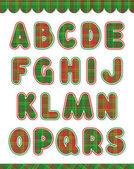 Christmas alphabet set, letters A - S — Stock Vector