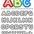 Royalty-Free Stock Vector Image: Line letters alphabet set letters A - Z