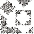 Floral pattern design elements - Stock Vector