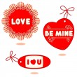 Valentine or romantic gift tags, cards — ストックベクタ