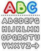Line letters alphabet set letters A - Z — Stock Vector