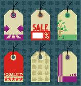 Hang tags templates — Stock Vector