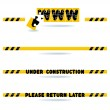 Website construction bars — Stock Vector