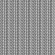 Seamless knit pattern, shades of gray - Stok Vektr