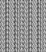 Naadloos gebreide patroon, grijstinten — Stockvector