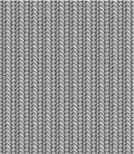 Seamless knit pattern, shades of gray — ストックベクタ