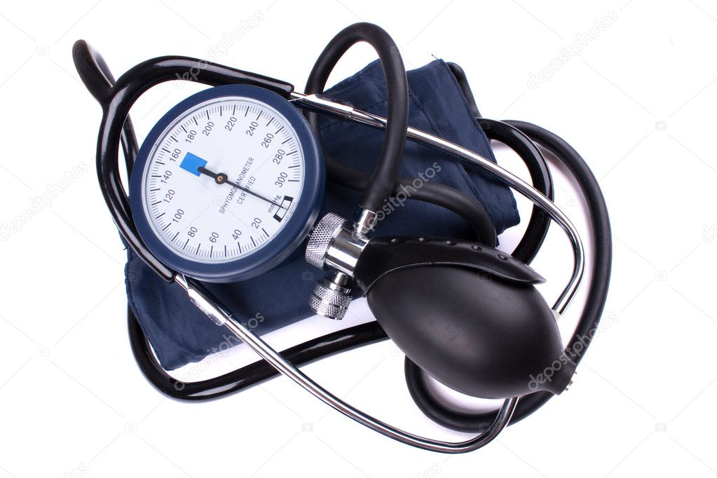 Manual blood pressure medical tool isolated on white background  Stock Photo #1891193