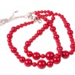 Stock Photo: Red necklace