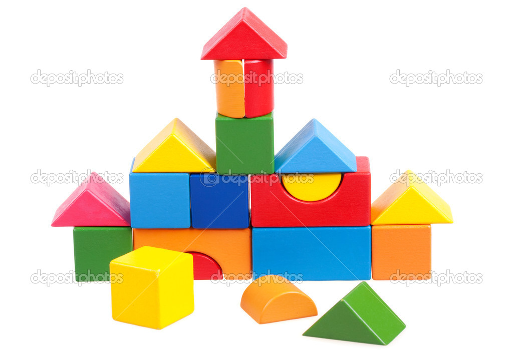 House constructed of wooden blocks — Stock Photo #1933279