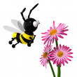 Stock Photo: 3d Bee