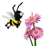 3d Bee — Stock Photo