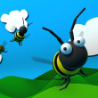 3D bee — Stock Photo #1829923