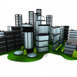 Stock Photo: 3d green city