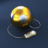Soccer ball with mouse — Stock Photo