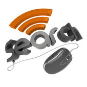 3d Search word with mouse — Stock Photo