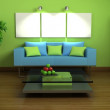 3d green interior — Stock Photo