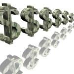 Money signs of dollar — Stock Photo #2081560