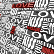 Stock Photo: The words of love