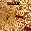 The words of love — Stock Photo